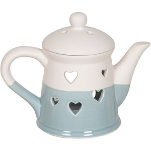 Aroma Wax Melt Burner: Heart Teapot (Blue)