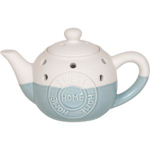Aroma Wax Melt Burner: Home Sweet Home Teapot (Blue)