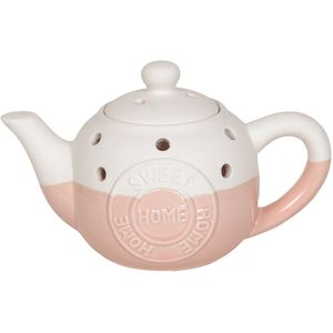 Aroma Wax Melt Burner: Home Sweet Home Teapot (Pink)