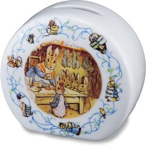 Reutter Porcelain 150th Anniversary Beatrix Potter Peter Rabbit Money Box