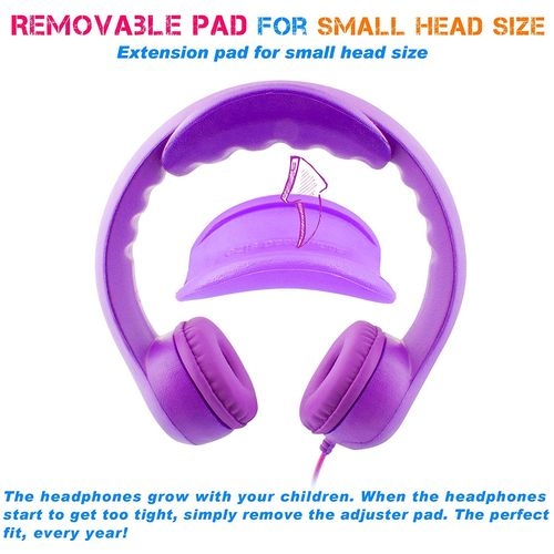 Almost Unbreakable, Robust, Bendable Headphones; limited to 85Db;  Purple