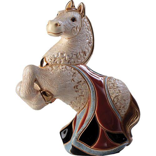 De Rosa White Horse Figurine F165W