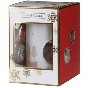 Yankee Candle Festive Gift Set - Wax Melt Warmer Tea Light & 4 Wax Melts