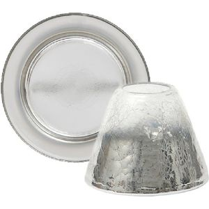 Yankee Candle Jar Shade & Tray Set: Platinum Fade (SML)