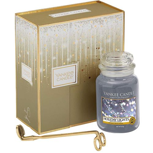 Yankee Candle Gift Set Holiday Lights (Large Jar & Wick Trimmer)