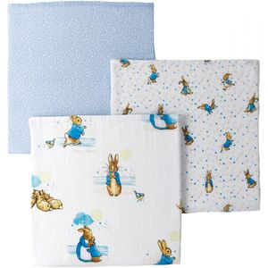 Beatrix Potter Baby Collection Peter Rabbit Muslin Squares Set of 3
