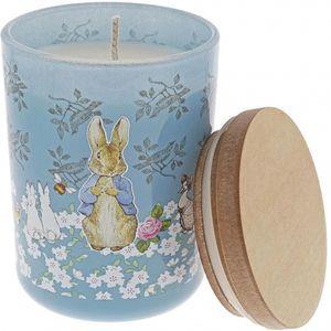 Beatrix Potter Peter Rabbit Garden Party Clean Linen Scented Candle - Blue