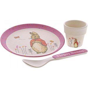Beatrix Potter Peter Rabbit Organic Bamboo Dinner Set - Flopsy Bunny