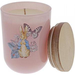Beatrix Potter Peter Rabbit Garden Party Clean Linen Scented Candle - Pink