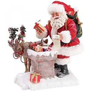 Possible Dreams Santa Figurine - Rooftop Magic