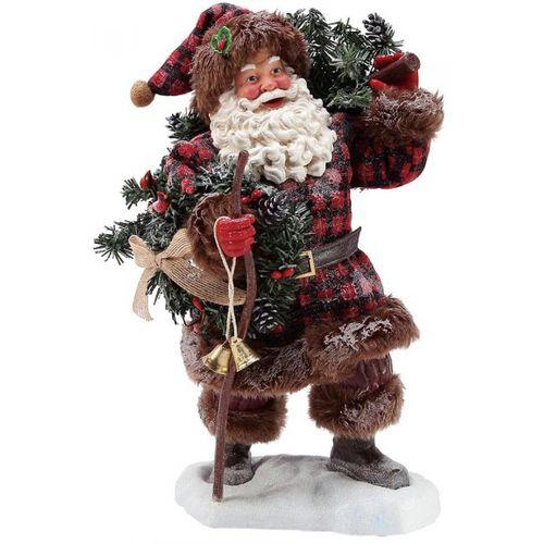 Possible Dreams Santa Figurine - Woodman`s Gifts 6003844