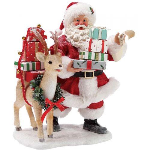 Possible Dreams Santa Figurine - Deerest Santa 6003849