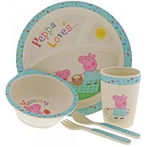 Peppa Pig Organic Bamboo Dinner Set