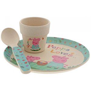 Peppa Pig Organic Bamboo Egg Cup Set
