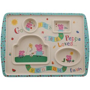Peppa Pig Organic Bamboo Game Dinner Plate