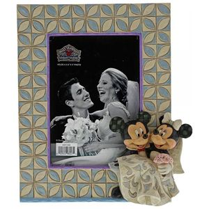 "Disney Traditions Photo Frame 3.5"" x 5"" - Mickey & Minnie Mouse Wedding"