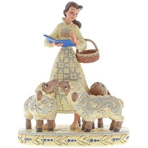 Disney Traditions White Woodland Figurine - Bookish Belle (Beauty & The Beast)