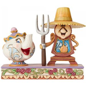 Disney Traditions Mrs Potts & Cogsworth Figurine
