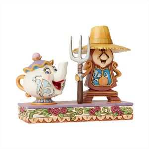 Disney Traditions Workin Round the Clock (Mrs Potts & Cogsworth) Figurine