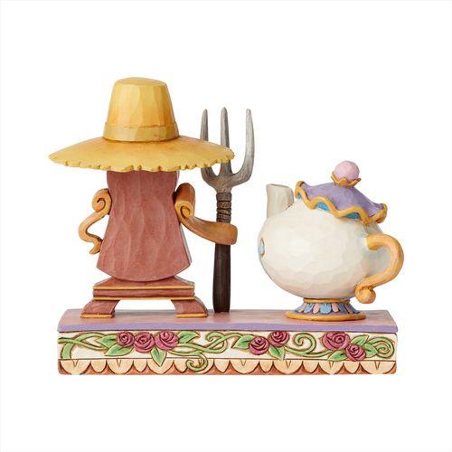 Disney Traditions Mrs Potts & Cogsworth Figurine