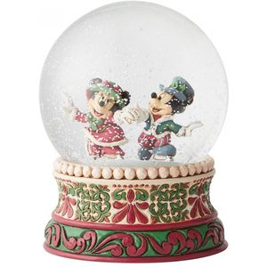 Disney Traditions Splendid Skaters (Victorian Mickey & Minnie Mouse) Waterball