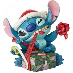 Disney Traditions Stitch with Santa Hat Figurine