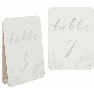 Amore Wedding Table Number Tent Cards Numbered 1 -12