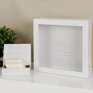 Amore Wedding Guest Message Box with 80 Heart Shaped Tokens