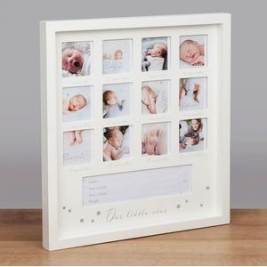 Bambino Baby First Year Collage Photo Frame - Our Little Star