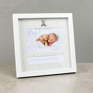"Juliana Bambino Hospital Bracelet Keepsake & Photo Frame 6"" x 4"""
