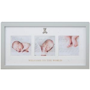 "Juliana Bambino Triple Photo Frame 4"" x 4"" - Welcome To The World"