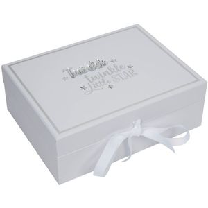 Celebrations Baby Keepsake Box with 5 Compartments - Twinkle Twinkle