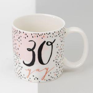 Luxe Ceramic Female Birthday Mug - 30
