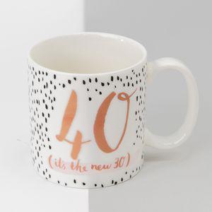 Hotchpotch Luxe Birthday Ceramic Mug - 40 (Female)