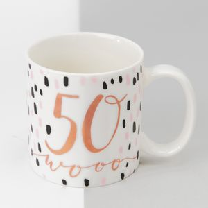 Hotchpotch Luxe Birthday Ceramic Mug - 50 (Female)