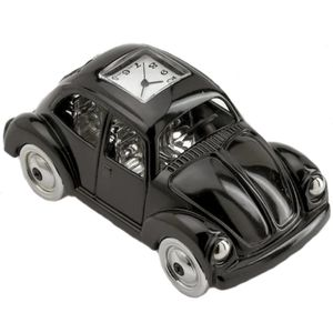 Black VW Beetle Miniature Clock