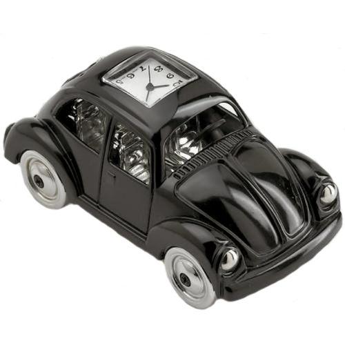 Black VW  Beetle Miniature desk top Clock