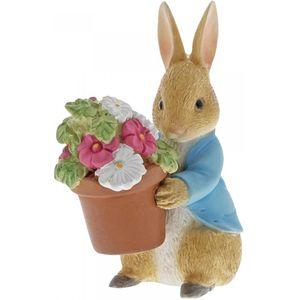 Beatrix Potter Peter Rabbit Figurine - Peter Rabbit Brings Flowers