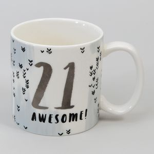 Hotchpotch Luxe Birthday Ceramic Mug - 21 (Male)