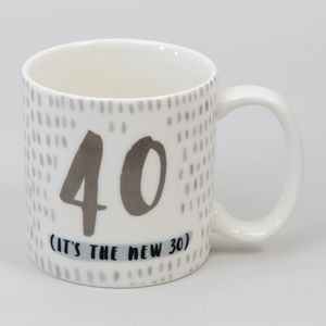 Hotchpotch Luxe Birthday Ceramic Mug - 40 (Male)