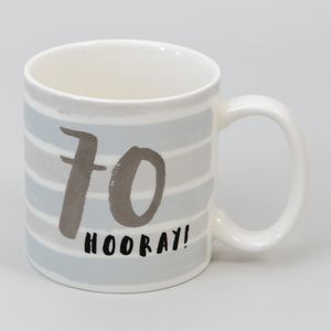 Hotchpotch Luxe Birthday Ceramic Mug - 70 (Male)