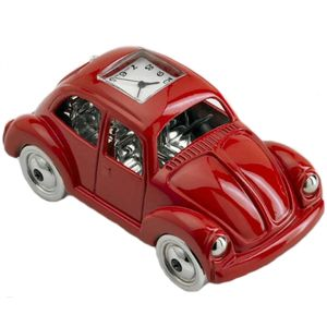 Red VW Beetle Miniature Clock