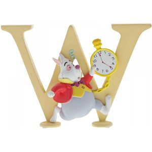 Disney Letter W Figurine: White Rabbit (Alice in W/L)