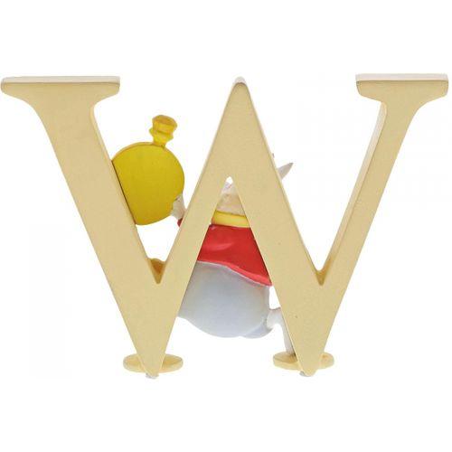 Disney Letter W Figurine - White Rabbit Alice in Wonderland A29
