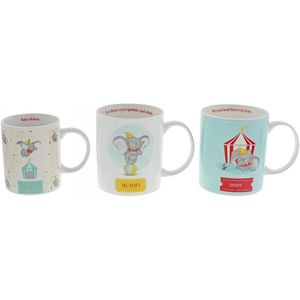 Disney Enchanting Family Mugs Gift Set (Little One Daddy & Mummy) - Dumbo