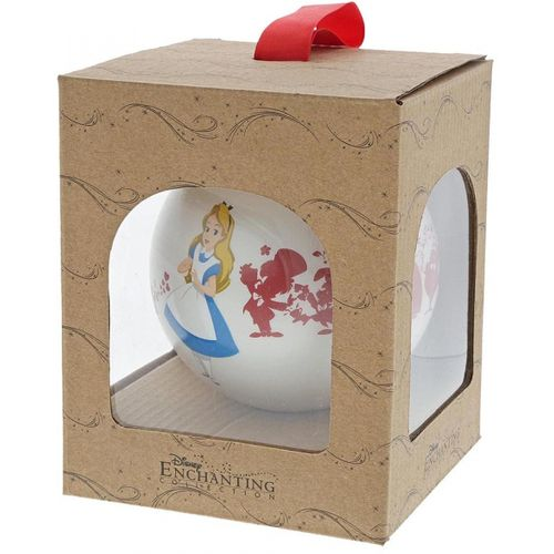 Alice in Wonderland Bauble - We`re All Mad Here Disney Enchanting Collection Christmas Hanging Deco