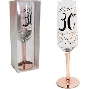 Hotchpotch Luxe Birthday Flute Glass - 30