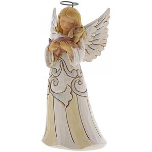 Heartwood Creek White Woodland Figurine Angel with Dog