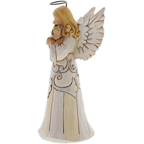 Heartwood Creek White Woodland Faithful Friend  Angel with Dog Figurine 4060962 by Jim Shore