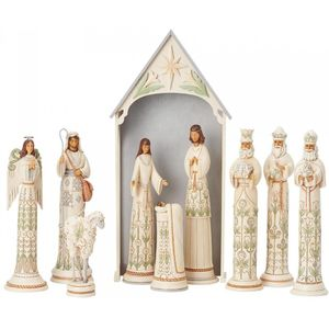 Heartwood Creek White Woodland Nativity Set LE